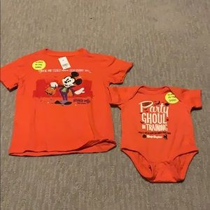 Mickey's Not So Scary Halloween Party top & onesie